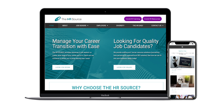 hrsource website mockup